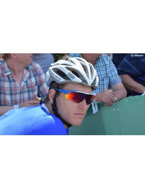 The French national champion has several pairs of custom Oakley Radar sunglasses