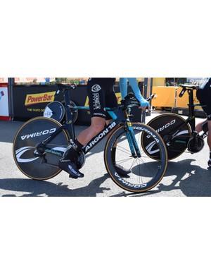 Magnus Cort's Argon 18 time trial bike