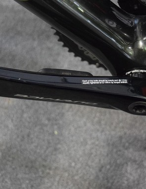 A look at the non-drive side power meter crank