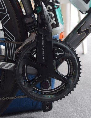 Specialized's new power meter on a Shimano Dura-Ace R9100 crankset
