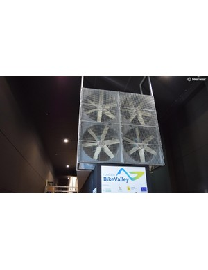 These four fans pull the air through the wind tunnel