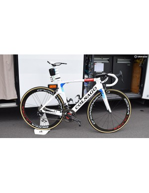 Alexander Kristoff's custom-painted Colnago Concept in European champion colours