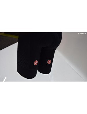 Castelli logos are positioned on the back of the thigh on the Premio 2 and Free Aero Race 4 bibshorts