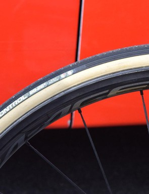 28mm Vittoria Corsa Control tubular tyres for Van Avermaet
