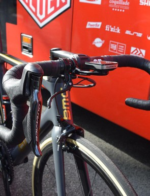 Unlike race winner Peter Sagan, Van Avermaet opted for electronic shifting on his BMC