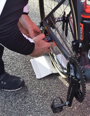 As well as the chain, the derailleur jockey wheels were also lubricated