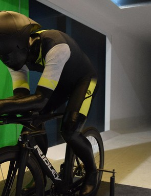 The fibreglass model is based on the physique of Tony Martin