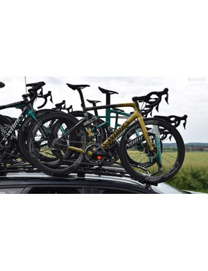 Peter Sagan had one of his Sagan Collection S-Works Tarmacs on the race as a spare bike