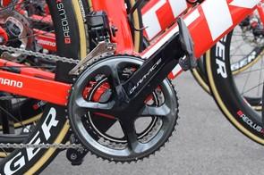Trek-Segafredo has been using Shimano's Dura-Ace R9100-P power meters for the 2018 season