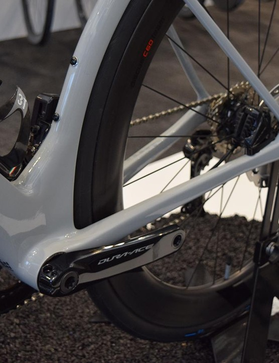 An oversize bottom bracket area will increase power transfer, as well as aerodynamic benefits also considered