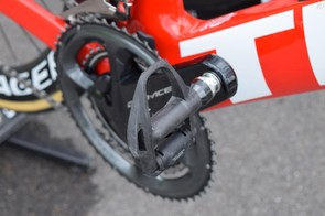 The Shimano Dura-Ace R9100 groupset also extends to the pedals