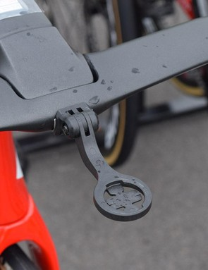 Stuyven's cockpit has an integrated out-front computer mount