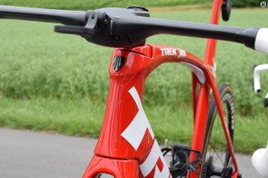 A look at the front end of the new Madone