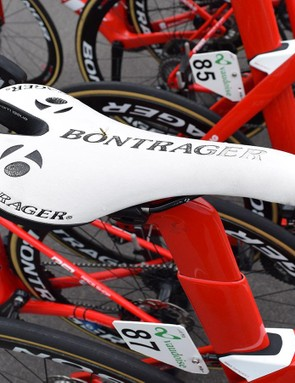 Stuyven uses a Bontrager Team Issue saddle
