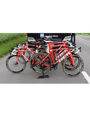 Trek-Segafredo had almost entirely disc-equipped bikes at the race