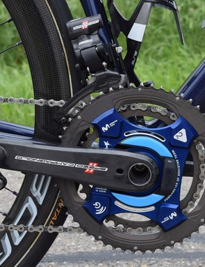 Movistar Team uses Campagnolo Power2Max power meter-equipped cranksets