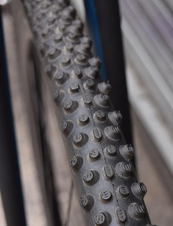 A closer look at the tread profile on the Schwalbe X-One Evo Bite front tyre