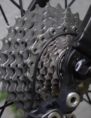 Froome generally rides an 11-28 Dura-Ace cassette