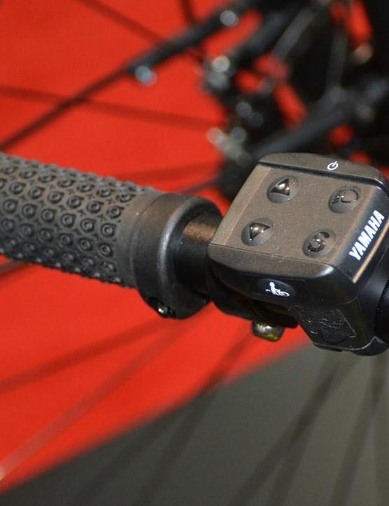 Easy access thumb controls, just like on adult e-bikes