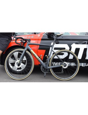 Greg Van Avermaet also raced some stages on the disc version of the BMC Teammachine SLR01