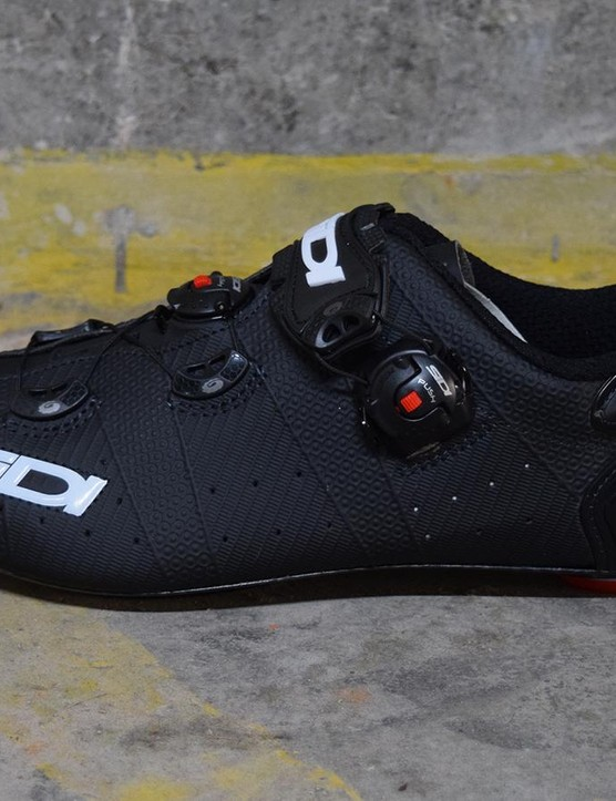 Sidi has its logo on display with all angles covered