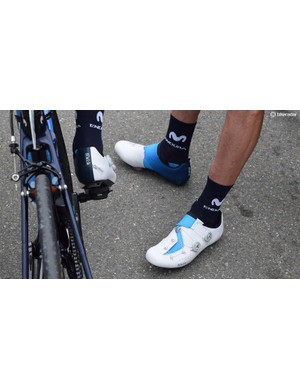 The whole Movistar Team wear team edition Fizik Infinito R1 shoes