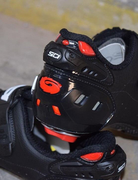 The shoes also feature Sidi's adjustable heel cup system