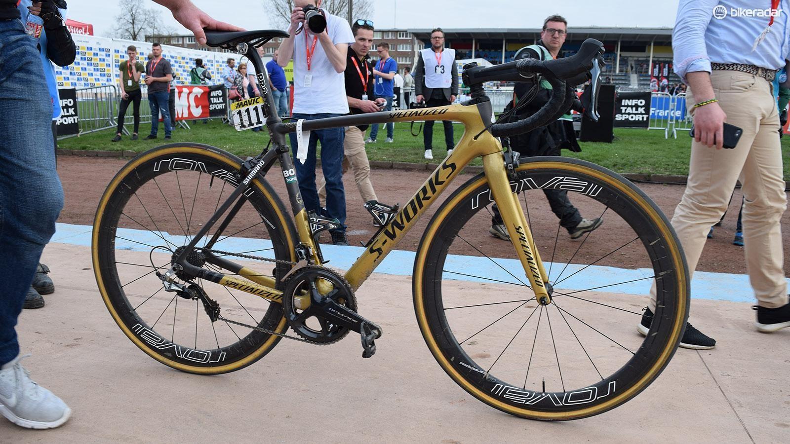 Peter Sagan's Paris-Roubaix winning 'Sagan Collection' S-Works Roubaix Rim Brake