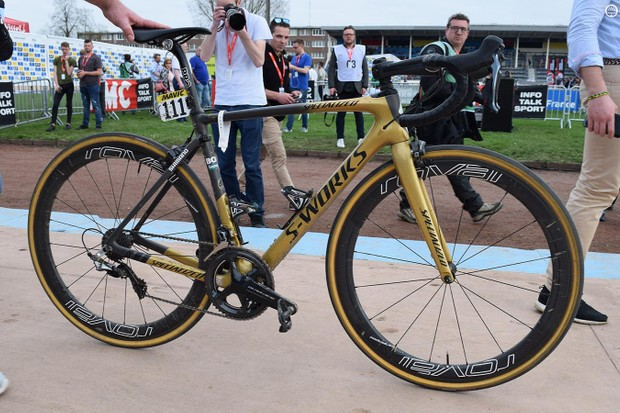Peter Sagan's Paris-Roubaix winning 'Sagan Collection' S-Works Roubaix Rim Brake