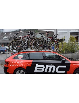 The spare bikes for BMC were last year's race bikes