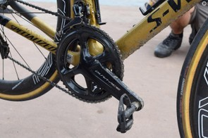 The Shimano Dura-Ace R9100 crankset was equipped with a Specialized power meter