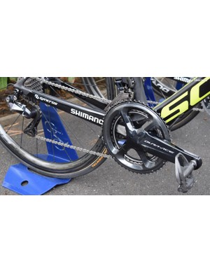 Albasini ran a standard gear combination of 53/39 chainrings and an 11-28 cassette