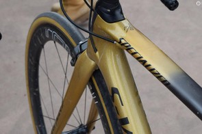 The 'Sagan Collection' paint design is a mix of gliiter gold, matt gold and black