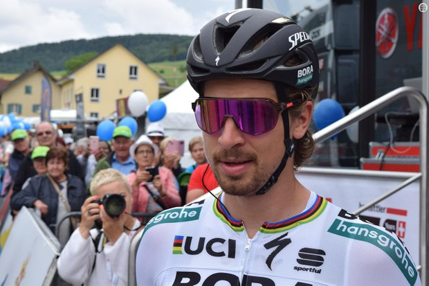 Peter Sagan has the full range of 100% sunglasses to choose from