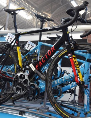 Oliver Naesen raced aboard a custom Factor as Belgian national champion
