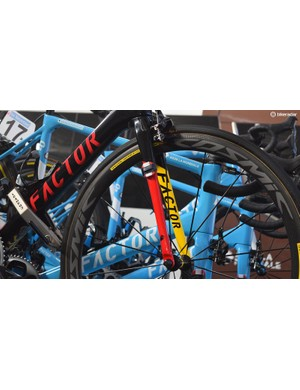AG2R La Mondiale pair its Factor bikes with wheels from French manufacturer Mavic