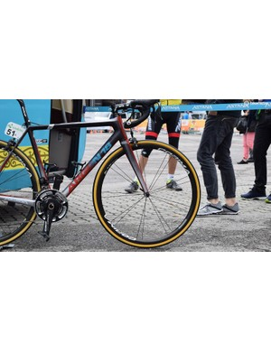 Astana uses wheels from French brand Corima
