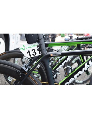 A look at the seat cluster on Vermote's Cervélo R5