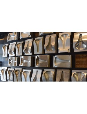 The company's saddle moulds since 1970 decorate the walls