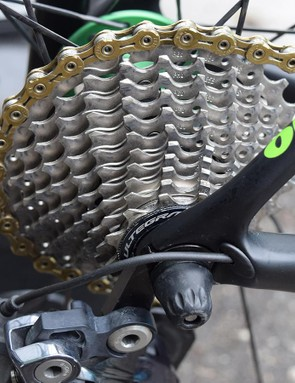 Dimension Data is one of a few WorldTour teams who regularly run Shimano Ultegra, as opposed to Dura-Ace cassettes