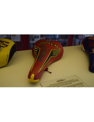 Jan Ullrich's saddle features the eagle wings of Germany