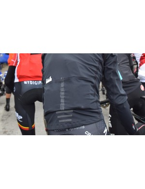 This Sportful Fiandre jacket has the red flash on the rear of the jacket crudely blacked out