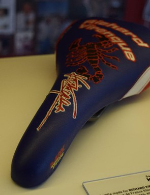 Richard Virenque's saddle features a scorpion design