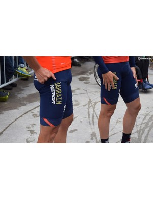 Spanish riders have a reputation for overdressing in warm weather and the Izaguirre brothers opted for the fleece-lined Sportful Fiandre shorts for a wet-but-warm stage of the race