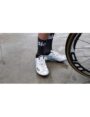 Team Sky youngster Pavel Sivakov wore aero socks for several road stages