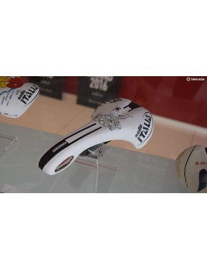 Selle Italia created this saddle to celebrate Alexandre Vinokourov's 2012 Olympic road race victory