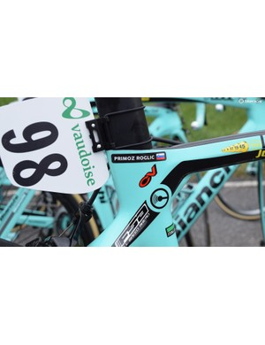 The bladed tubing of the Oltre XR4 is most prominent around the seat cluster