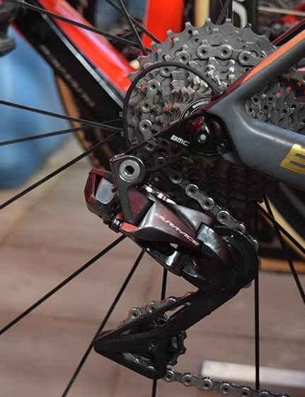 Van Avermaet ran an 11-32 cassette with 53/39 chainrings