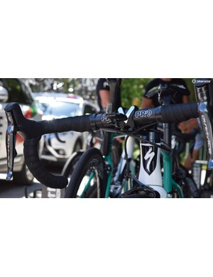 K-Edge released an aero mount specifically for use with the Wahoo Elemnt Bolt computer back in April, which Bora-Hansgrohe used at the race