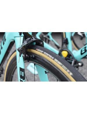 25mm gumwall Vittoria tubular tyres for the whole Lotto-JumboNL team at Tour de Romandie